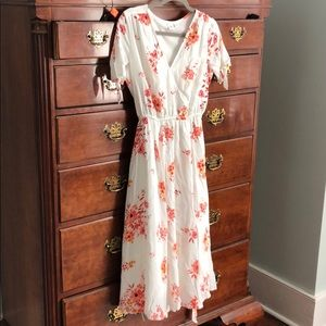 Gap floral long dress